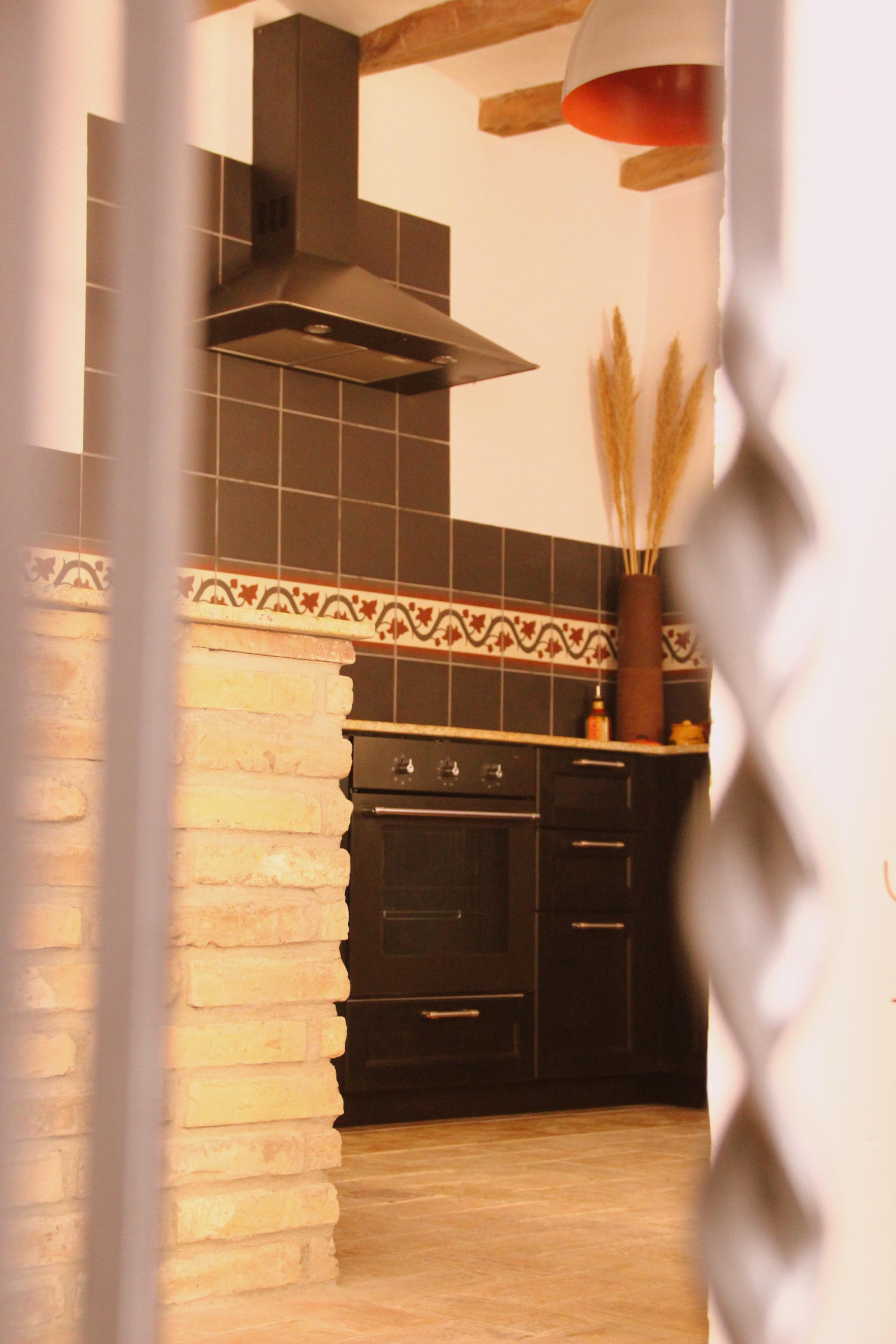 kitchen through the rails